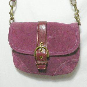 Coach 4743 Purple Suede Swing Pack Crossbody Used